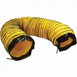 """Frost Fighter 47104 16"""" x 25ft Yellow Poly (RETURN) Duct - Bottom w/ Belt Cuff"""