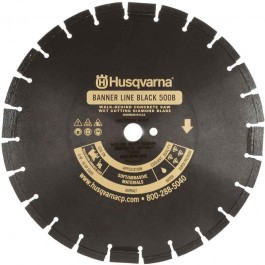 "Husqvarna 36"" Standard Black 500B-R Banner Line  Asphalt Wet Saw Wide Notch Blade-542751084"