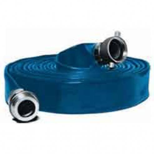 """50ft Long 4"""" Water Discharge Hose by Abbott Rubber"""