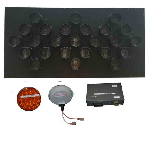 Trafcon Sign Panel and Controller Retrofit Package w/25 LED Lamps