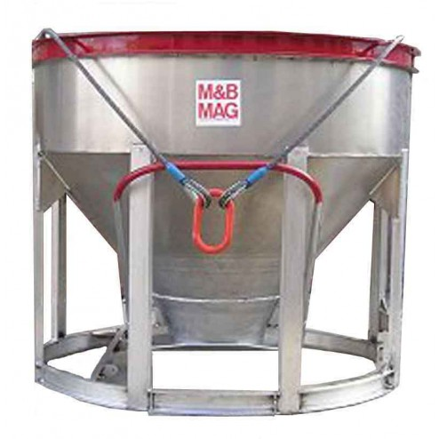 1/2 Yard Aluminum Concrete Bucket BB-5 by M&B Mag