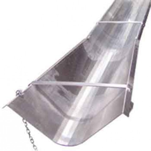 BonTool 12-813-T8 Flared End Aluminum 8ft Concrete Chute