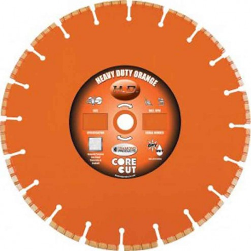 "Diamond Products Heavy Duty Orange H 54"" Wet Blade-72653"