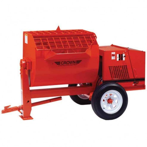 Crown 16 cu/ft 16SH Steel Drum Series Hydraulic Mortar Mixer