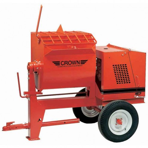 12 cu/ft Mortar Mixer 13HP Honda 12S-GH13 by Crown Ball Hitch