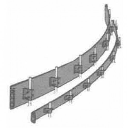 """Dee Concrete  4"""" X 10 ft Steel Flexible Concrete Form 507-4"""