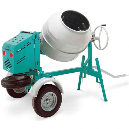 Imer Workman II 9 Cu/Ft Series Steel Drum Series Concrete Mixer