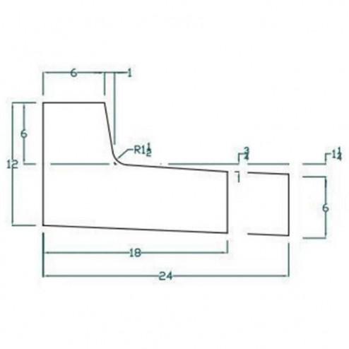 "J-CURB 24"" Out Flow Curb and Gutter Concrete Form Kit 10ft"