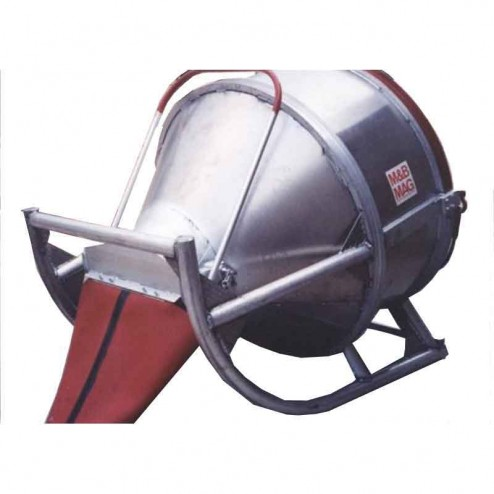 4 Yard Aluminum Laydown Concrete Bucket EDB-40 M&B