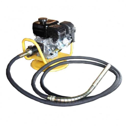 Gas Powered Concrete Vibrator w/ 18Ft Flexible Hose & Swivel Base 6HP 179cc-Gas Vibrator