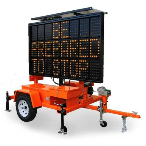 National Signal Sunray 480 80W Solar Powered LED Portable Sign-SR480