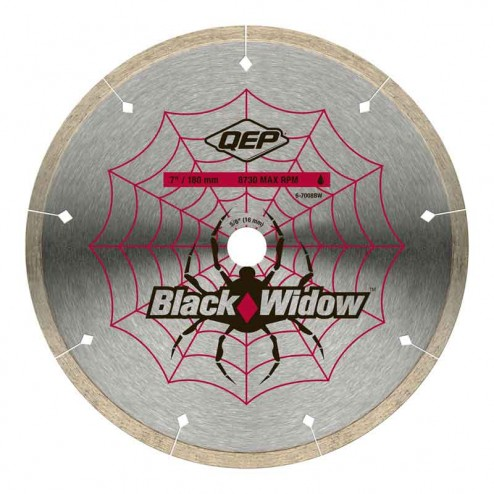 "QEP 7"" Black Widow Porcelain Diamond Blade"