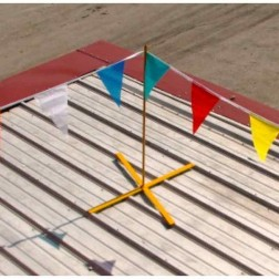 Acro Building Systems X-Warning Line Set Of 4 w/ 130' of  Flags 21000