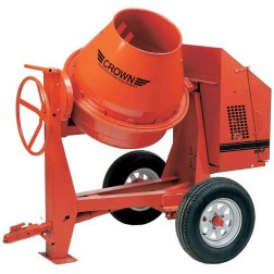 Crown 6 cu/ft C6 Steel Drum Series Concrete Mixer