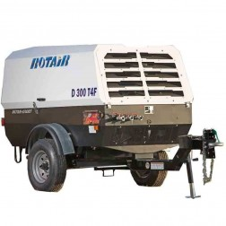 Rotair D300T4F 300 cfm Portable 75.3 HP T4F Diesel Powered Air Compressor