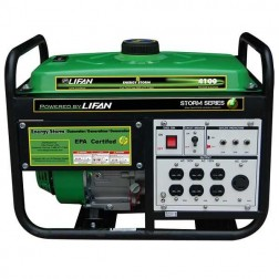 Lifan Energy Storm ES4100E Generator w/ Electric Start Wheels