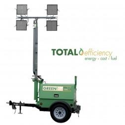 GHS Greenfire H100-4 LED Hybrid Mobile Light Tower