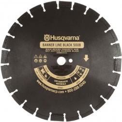 "Husqvarna 30"" Standard Black 500B-R Banner Line  Asphalt Wet Saw Wide Notch Blade-542751083"
