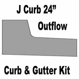 "J-CURB 24"" Out Flow Curb and Gutter Concrete Form Kit 10ft"