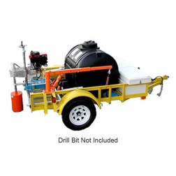"""Kor-it Inc K-160-G616 16"""" Trailer Mounted 17.5HP Gasoline Core Drill W/ Trailer, Auger and Variable Positioning"""