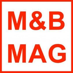 M&B Mag Side Discharge Chute for BB10 to BB-15 Aluminum Buckets