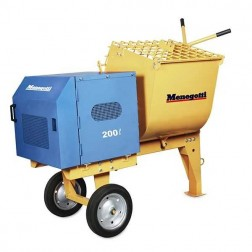 Menegotti 200L 7 cu ft Mortar Mixer with Honda GX 240