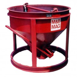 1/2 Yard Steel Concrete Bucket SBB-5 by M&B Mag