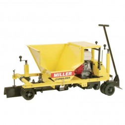 "Miller MC655 5"" Solid Auger 14HP Under Guardrail Industrial Concrete Curbing Machine"