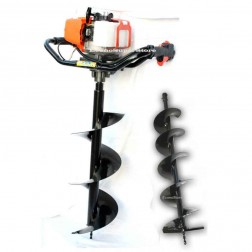 "Post Hole Digger with 8"" & 10""  Augger Bits 52cc -PHD203-10-8-800"
