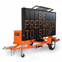National Signal Sunray 345 120W Solar Powered LED Portable Sign-SR345
