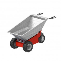 Power Pusher E-750 Electric Wheelbarrow by Nustar WITH GALVANIZED STEEL TUB INCLUDED