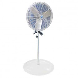 "Schaefer Ventilation 20"" OSHA Round Pedestal Fan White 20PFR"