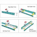 """J-CURB 24"""" In Flow Curb and Gutter Concrete Form Kit 10ft"""