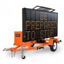 National Signal Sunray 380 120W Solar Powered LED Portable Sign-SR380