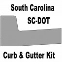 SCDOT South Carolina Curb and Gutter Concrete Form Kit 10ft