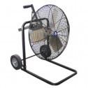 "Schaefer Ventilation 20"" OSHA Cart Fan Black 20FC-B"